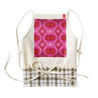 A modern abstract pink yellow orchids pattern. zazzle HEART apron