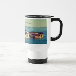 A modern coffee recipient and a classic design travel mug