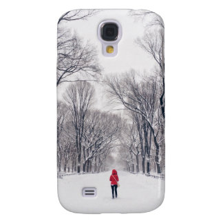 A Modern Little Red Riding Hood in Central Park Samsung Galaxy S4 Case