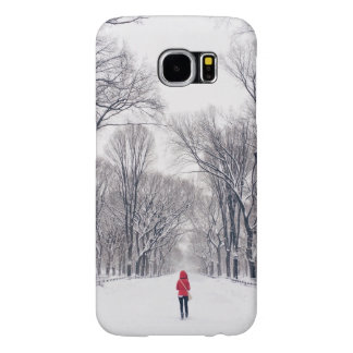 A Modern Little Red Riding Hood in Central Park Samsung Galaxy S6 Case