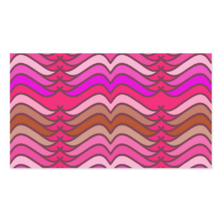 A modern neon pink  wave pattern Double-Sided standard business cards (Pack of 100)