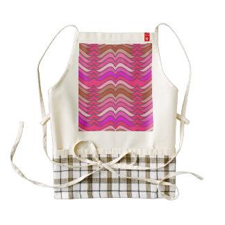 A modern neon pink  wave pattern zazzle HEART apron