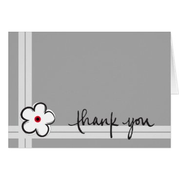 Professional Business A Modern Thank You Note Card