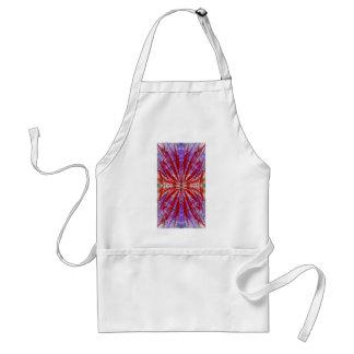 a modern tye dye adult apron