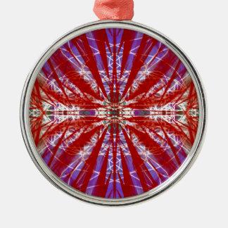 a modern tye dye christmas tree ornament