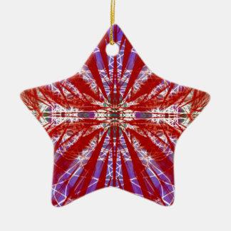a modern tye dye christmas tree ornaments