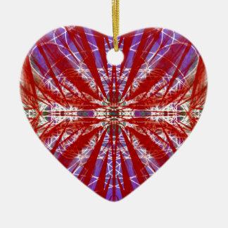 a modern tye dye ornaments