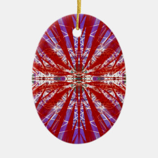 a modern tye dye ornament
