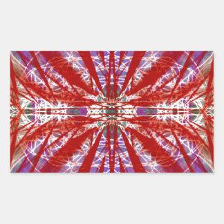 a modern tye dye rectangular sticker