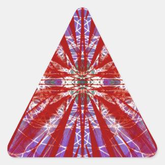 a modern tye dye triangle sticker