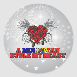 A Moldovan Stole my Heart Stickers