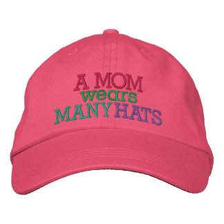 A MOM Wears Many Hats by SRF Embroidered Hat