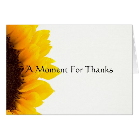 A Moment for Thanks Card