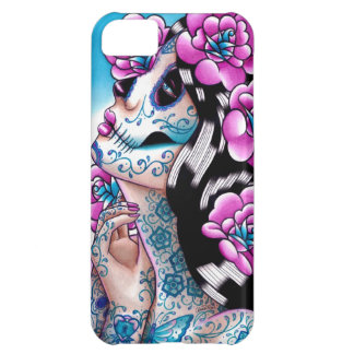 A Moment of Silence- Tattooed Sugar Skull Girl Cover For iPhone 5C