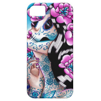 A Moment of Silence- Tattooed Sugar Skull Girl iPhone SE/5/5s Case