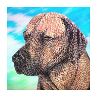 A Moment with Jedd (Ridgeback) Canvas Print