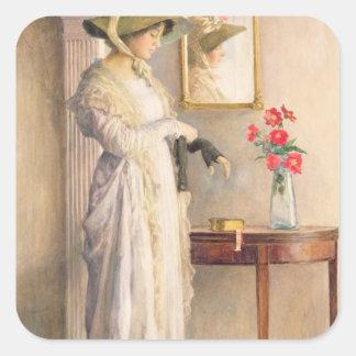 A Moment's Reflection, 1909 Square Sticker