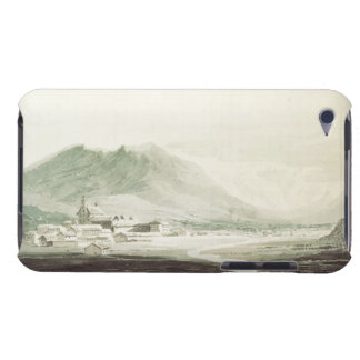 A monastery in an alpine valley (grey & blue washe iPod touch Case-Mate case