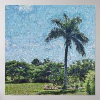 A Monet Palm Poster