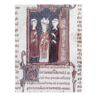 A Monk, a Bishop and an Abbot Postcard