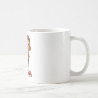 A monkey holding cymbals classic white coffee mug