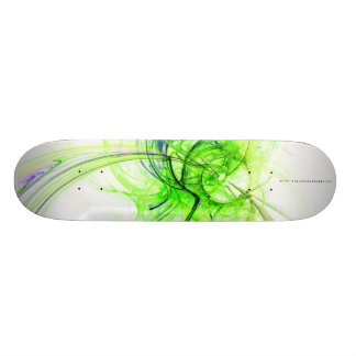 A Monkey Made This Green Fractal Skate Board