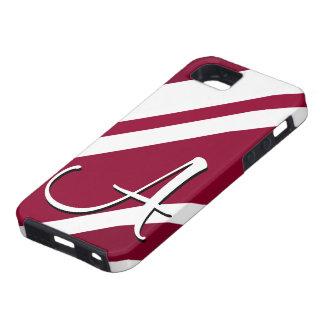A Monogram Crimson & White-Striped IPhone 5 Case