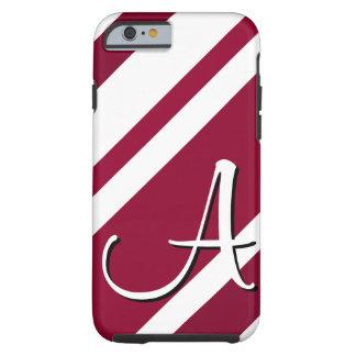A Monogram Crimson & White-Striped iPhone 6 case