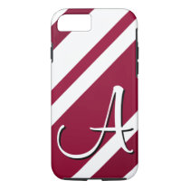 A Monogram Crimson & White-Striped iPhone 7 case