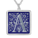 """A"" Monogram Initial-Branded Gift Pendant Necklace"