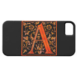 """A"" Monogram Initial Branded iPhone 5 Case"