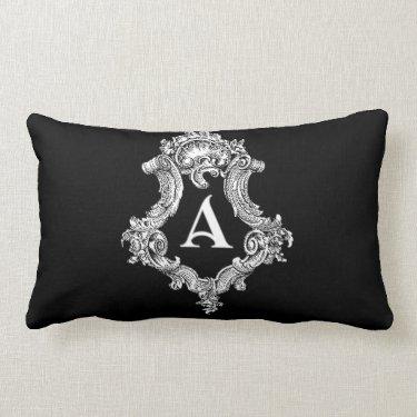 A Monogram Initial Throw Pillow