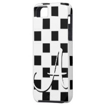 A Monogram White and Black Checked IPhone 5 Case