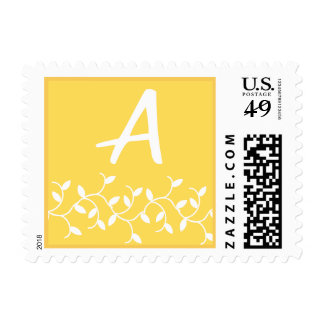 A Monogram (Yellow Ivy Leaves) Postage