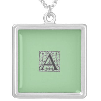 """""""A"""" Monogrammed Necklace"""