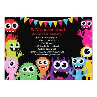 A Monster Bash Kids Birthday Invitation