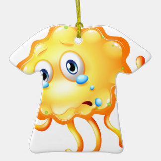 A monster crying because of sadness Double-Sided T-Shirt ceramic christmas ornament