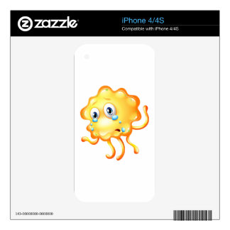 A monster crying because of sadness skin for the iPhone 4