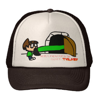 A MONSTER IN THE CLOSET TRUCKER HAT