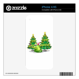 A monster near the christmas trees iPhone 4 decals