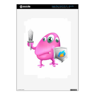 A monster with a weapon and a protection iPad 3 skin