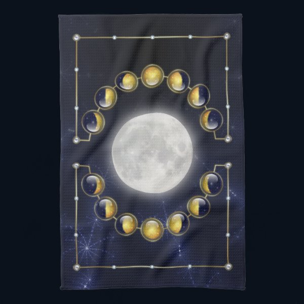 A Month in the Life of the Moon Kitchen Towel