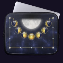 A Month in the Life of the Moon Laptop Sleeve