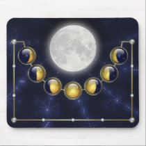 A Month in the Life of the Moon Mousepad