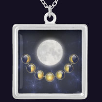 A Month in the Life of the Moon Necklace