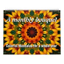A monthly bouquet calendar