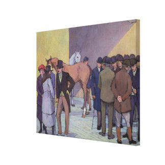 A Morning at Tattersall's (oil on canvas) Canvas Print