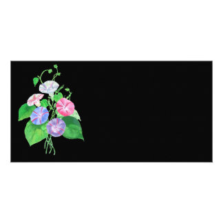 A Morning Glory Photo Card Template