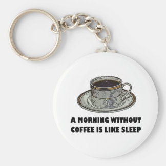 A MORNING WITHOUT COFFEE KEYCHAIN