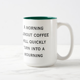 A Morning Without Coffee Mug